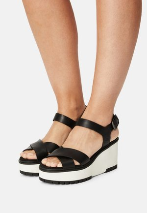 KORALYN X STRAP - Platform sandals - black