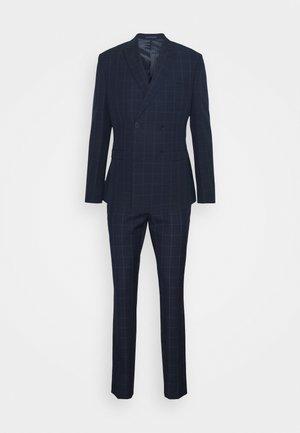 THE FASHION SUIT PEAK WINDOW CHECK - Suit - dark blue