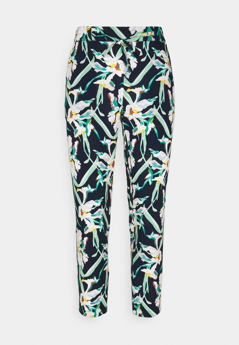 Vero Moda Petite - VMSIMPLY EASY LOOSE PANT - Trousers - navy blazer/vibe