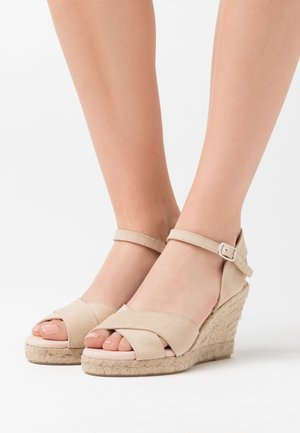 LEATHER ELCHE CANTO - High heeled sandals - beige