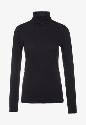 TISSUE TURTLENECK - Maglietta a manica lunga - black