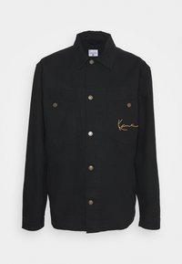 Karl Kani - SMALL SIGNATURE JACKET UNISEX - Denim jacket - black - 0