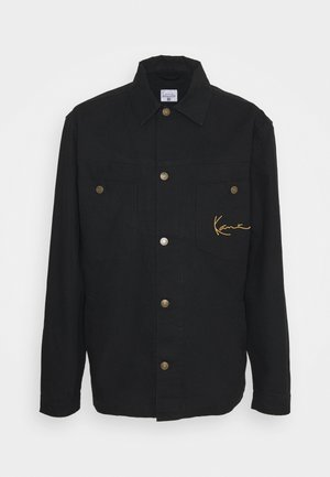 SMALL SIGNATURE JACKET UNISEX - Farkkutakki - black