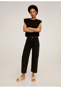 Mango - CANDY - Flared jeans - black denim - 1