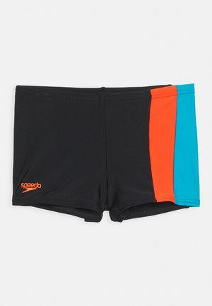 COLOURBLOCK AQUASHORT - Swimming trunks - black/hypersonic blu/volcanicorg