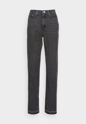 ROWE SPLIT - Straight leg jeans - black