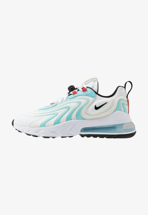 AIR MAX 270 REACT - Baskets basses - white/black/bleached aqua/chile red/speed yellow