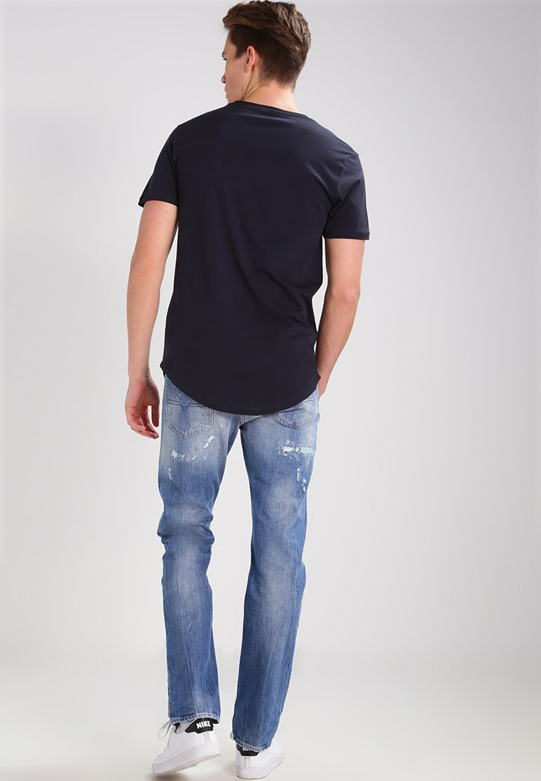 Only & Sons ONSMATT LONGY TEE - Basic T-shirt - dark navy BiKv0