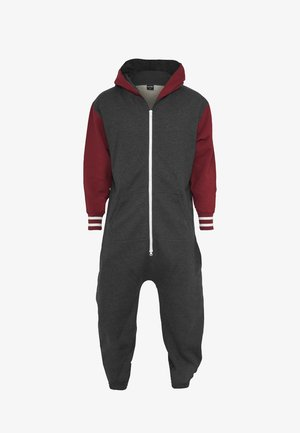Jumpsuit - charcoal/ruby