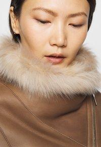 STUDIO ID - PHILIPPA JACKET - Leather jacket - camel/light camel - 4
