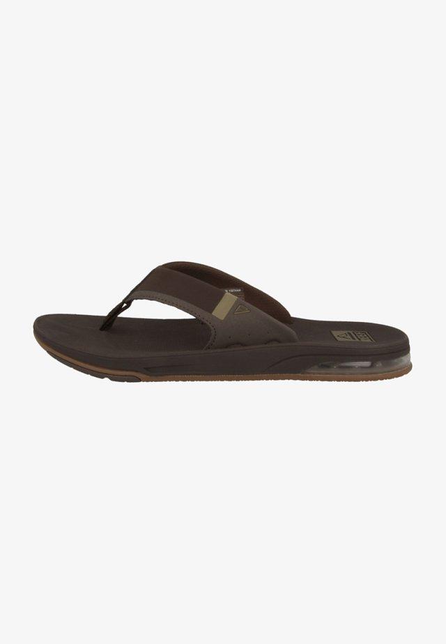 FANNING LOW - T-bar sandals - brown