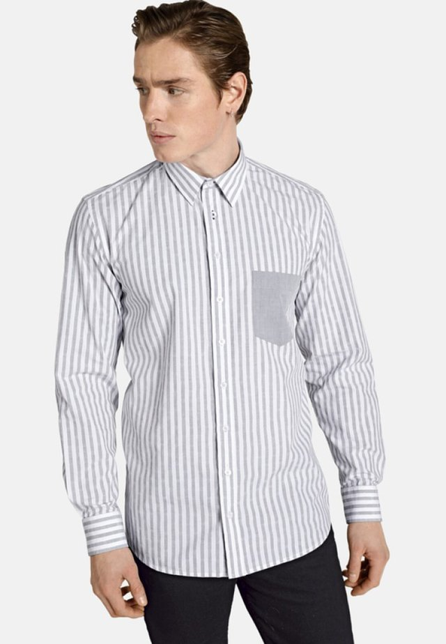 HELLO SAILOR - Shirt - light greyt white striped