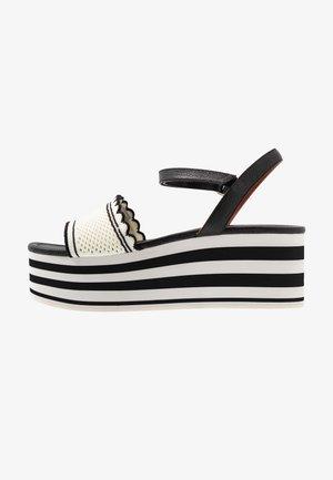 RIVIERA - Platform sandals - black/optic white
