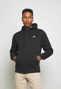 Nike Sportswear - CLUB HOODIE - Zip-up sweatshirt - black - 0
