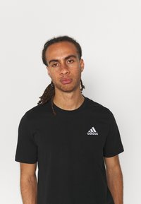 adidas Performance - ESSENTIALS - Basic T-shirt - black - 3