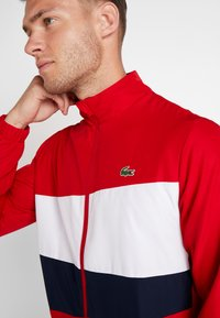 Lacoste Sport - TRACKSUIT - Träningsset - red/white/navy blue - 7