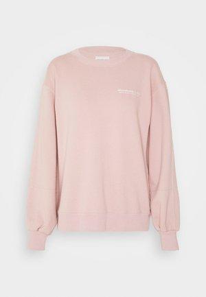 ITALICS SEAMED LOGO CREW - Sweatshirt - pink