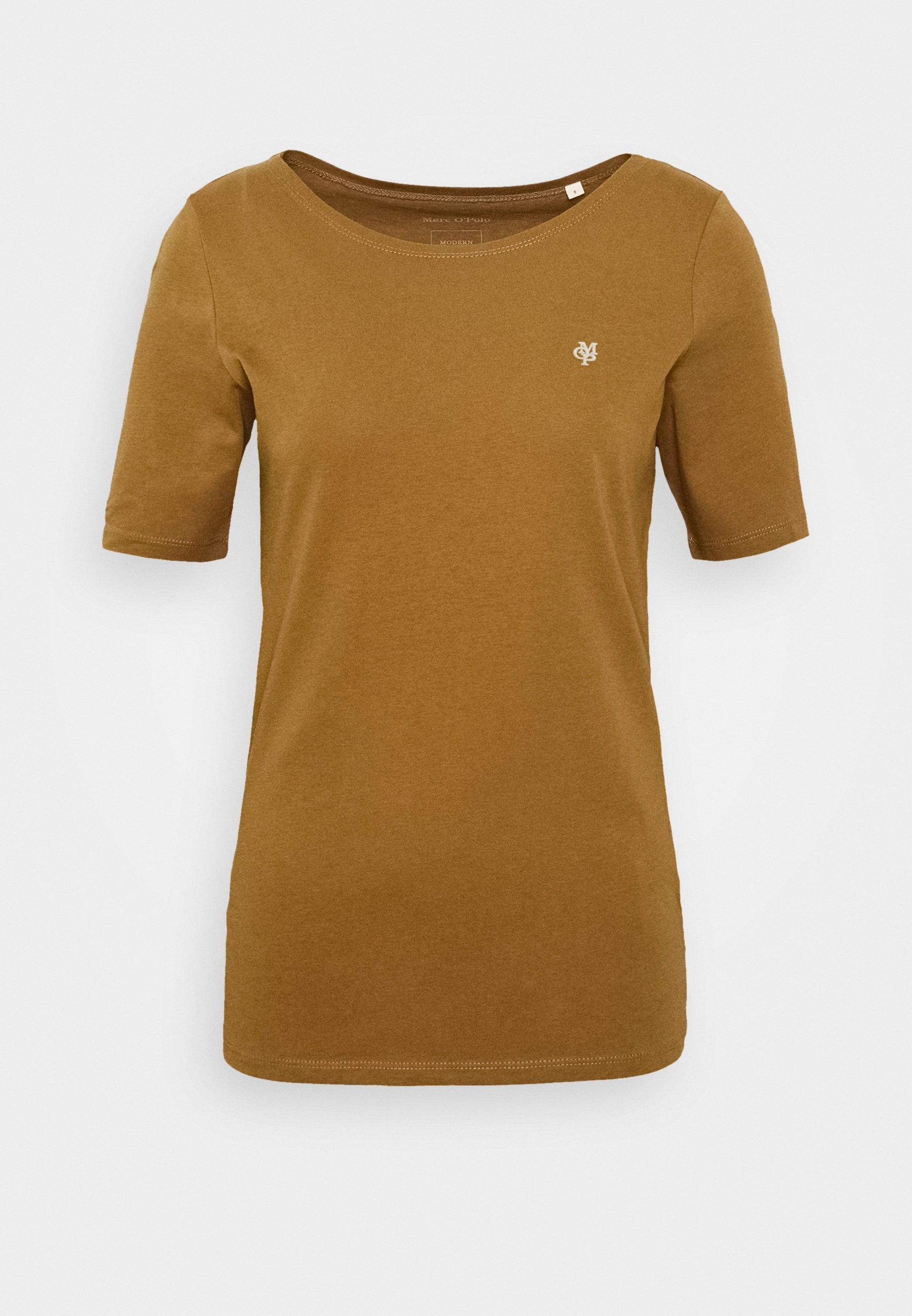 Marc O'polo Short Sleeve Roundneck - T-shirts Deep Tobacco/brun