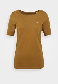 Marc O'Polo - SHORT SLEEVE ROUNDNECK - Basic T-shirt - deep tobacco - 4