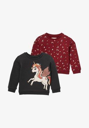 2 PACK - Sweatshirt - gray / dark red
