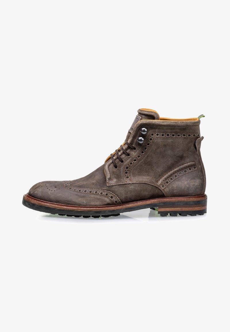 Floris van Bommel - Lace-up ankle boots - taupe