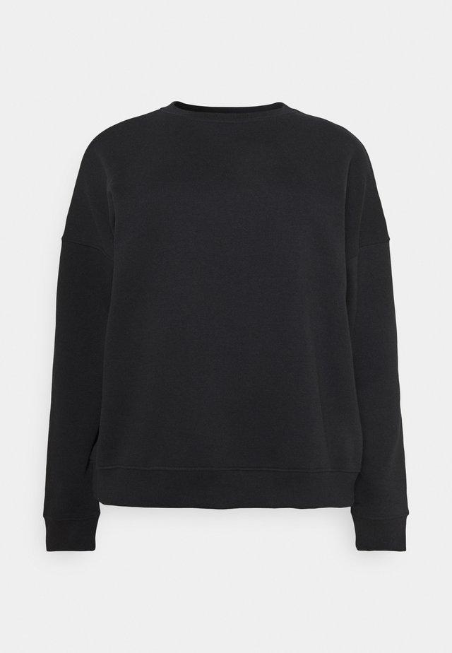 CREW NECK  - Bluza - black