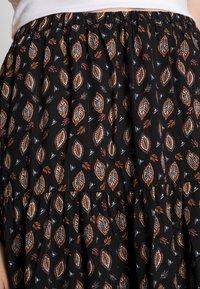 Molly Bracken - LADIES WOVEN SKIRT - Maxi skirt - comanches black - 4