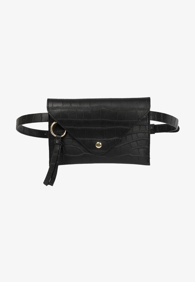 Bum bag - black croco matt