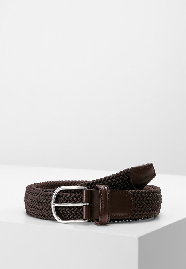STRECH BELT UNISEX - Palmikkovyö - brown