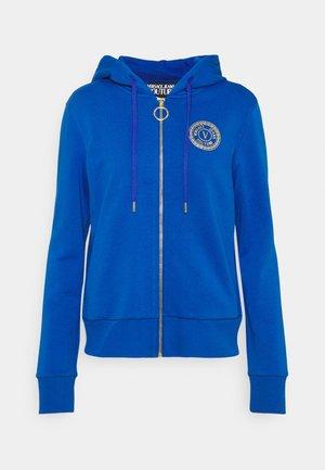 Zip-up sweatshirt - blue/gold