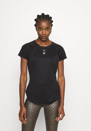 TRAIN FIRST MILE HIGH NECK TEE - T-shirts med print - black