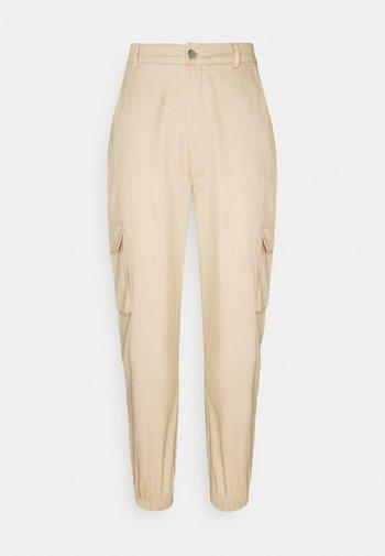 PLAIN CARGO TROUSER - Trousers - sand