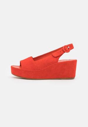 SEASIDE - Platform sandals - koralle