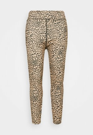 Leggings - brown/black