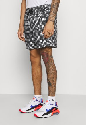 FLOW GRID - Shorts - black/white