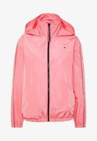 CORY FUNNEL PACKABLE - Summer jacket - pink grapefruit