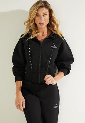 MIT REISSVERSCHLUSS FRONTLOGO - Zip-up sweatshirt - schwarz