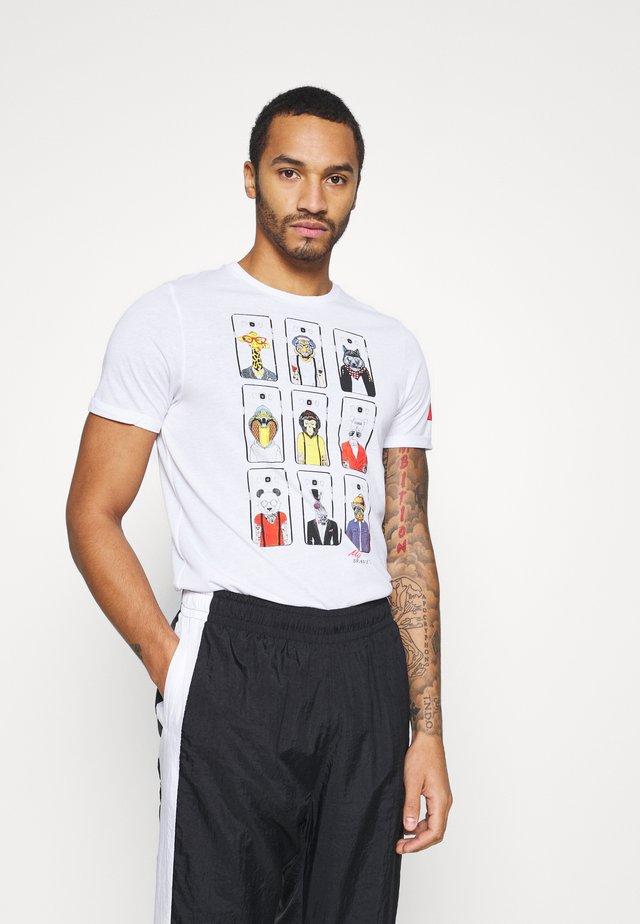 VINCENT - T-shirt imprimé - optic white