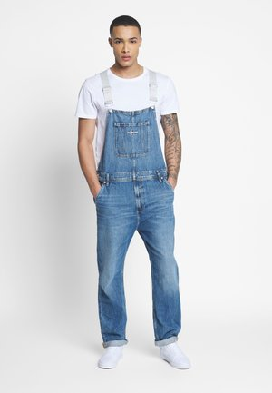 ICONIC DUNGAREE - Lacláče - mid blue