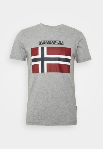 SELLYN - T-shirt con stampa - medium grey melange