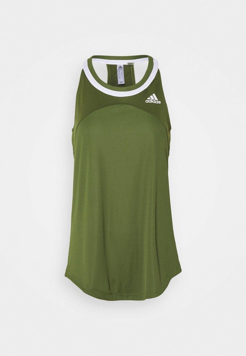 adidas Performance - CLUB TANK - Sports shirt - wilpin/white