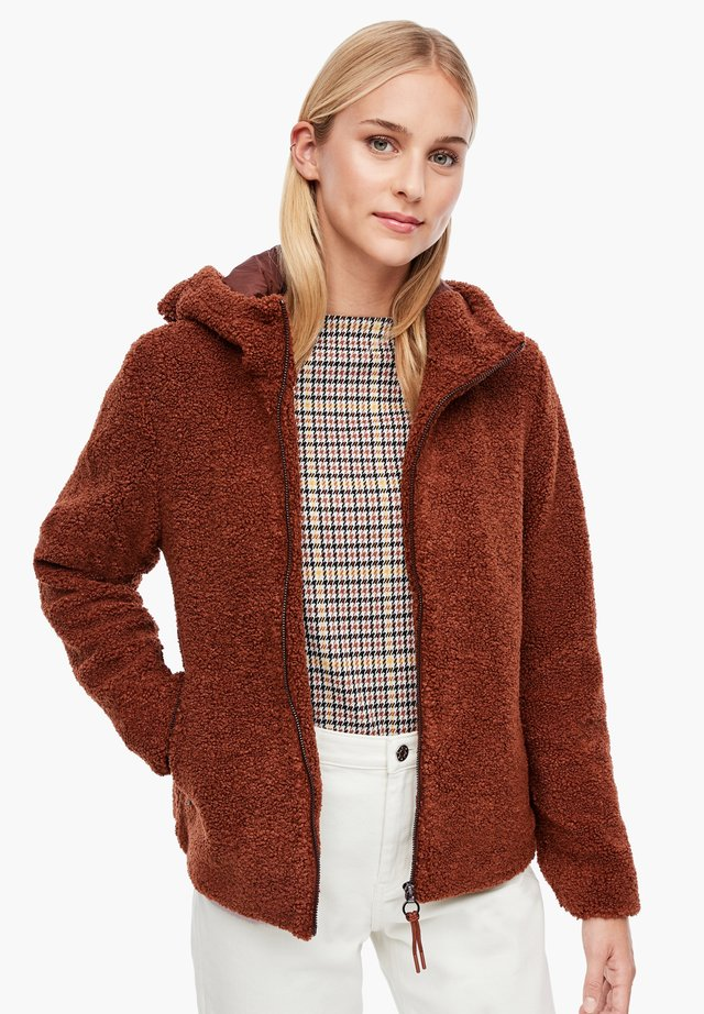 AUS TEDDY-PLÜSCH - Fleece jacket - brown