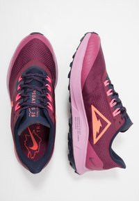 Nike Performance - AIR ZOOM PEGASUS 36 TRAIL - Trail running shoes - villain red/total crimson/blackened blue/frosted plum/mulberry rose/digital pink - 1