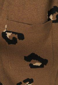 J.CREW - LEOPARD RORY OPEN COAT - Kardigan - dark camel/sand/black - 2