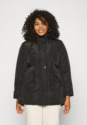 HOODED - Winter coat - black
