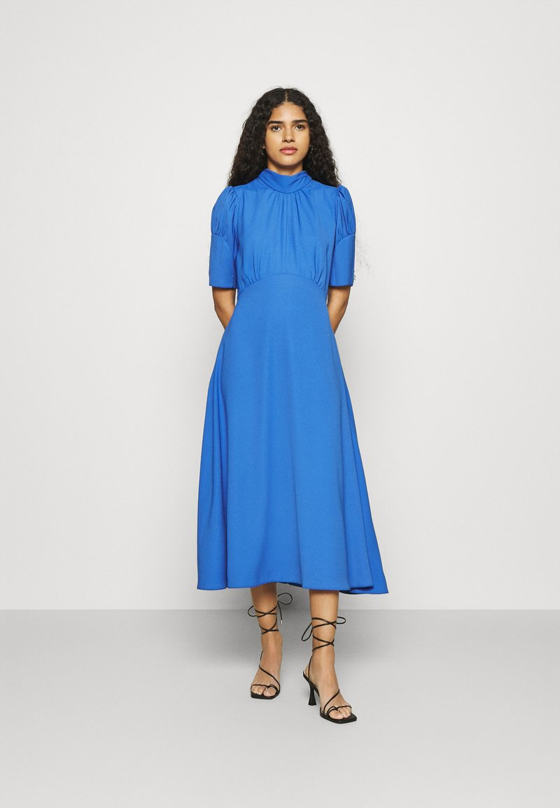 Closet - TIE BACK A LINE DRESS - Kjole - blue