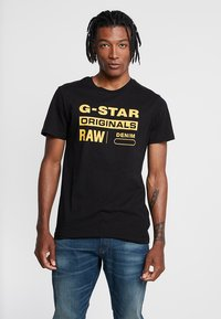 G-Star - GRAPHIC LOGO - Camiseta estampada - dark black - 0