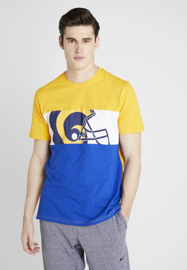 NFL LOS ANGELES PANNELLED - Pelipaita - blue