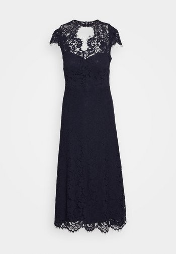 DRESS MIDI - Cocktail dress / Party dress - navy blue