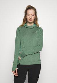 Salewa - PUEZ MELANGE DRY HDY - T-shirt sportiva - feldspar green melange - 0